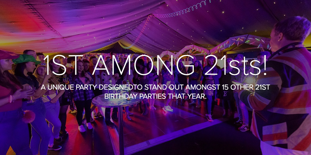 evening marquee 21st birthday party with dance floor