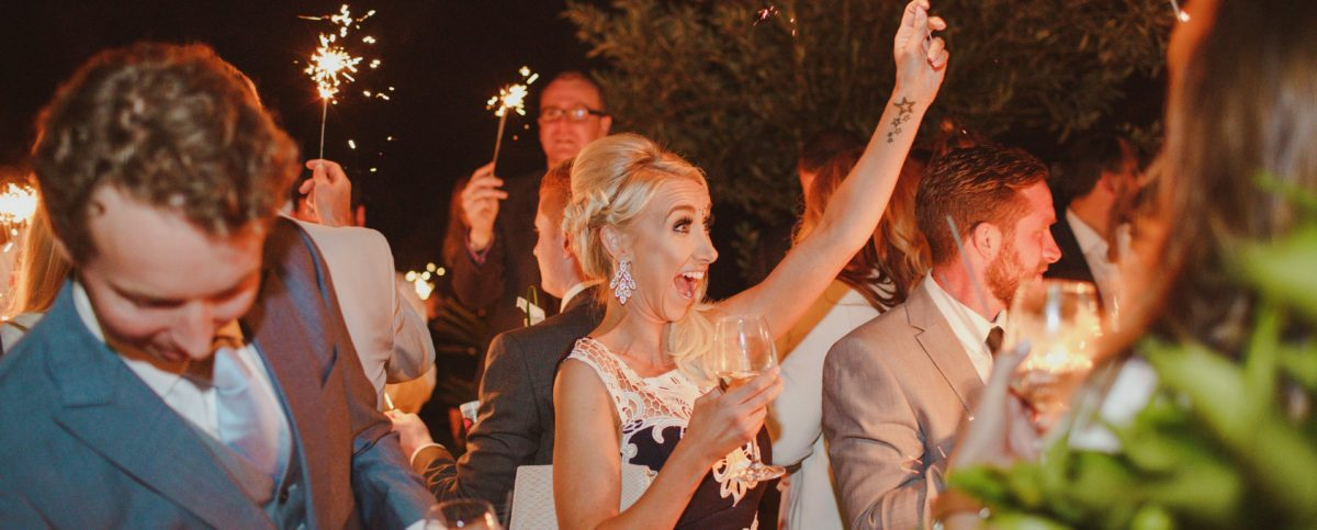 Planning a party or wedding - Guests celebrating at the perfect party