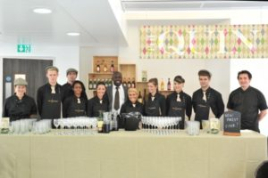 The Vanilla Bean Events Team serving drinks at an event