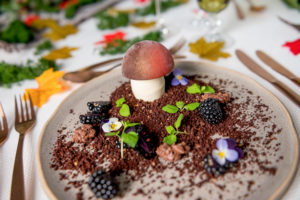 Fruits of the forest dessert served for a wedding spectacular