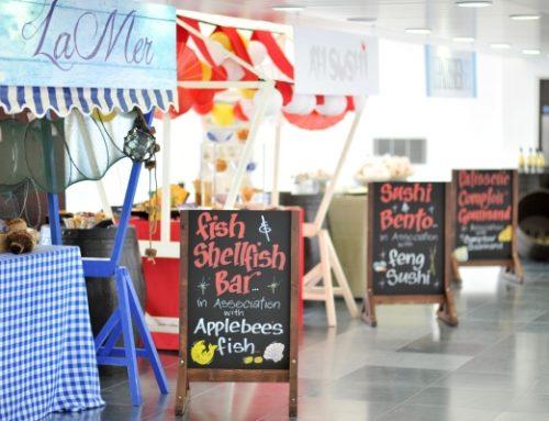 Themed 50th Birthday: Borough market stalls event