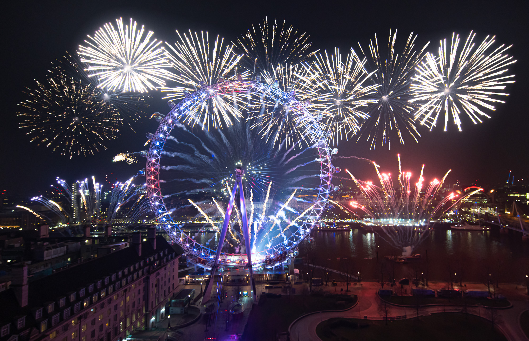 New Years Eve Party: London Fireworks display, London Eye